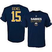 adidas Youth Buffalo Sabres Jack Eichel #15 Navy T-Shirt