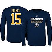 adidas Youth Buffalo Sabres Jack Eichel #15 Navy Long Sleeve Shirt