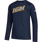 adidas Youth Buffalo Sabres Line Shift Navy Long Sleeve Shirt