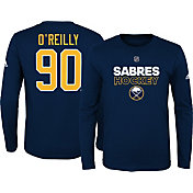 adidas Youth Buffalo Sabres Ryan O'Reilly #90 Navy Long Sleeve Shirt