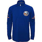 adidas Youth New York Islanders Authentic Pro Royal Quarter-Zip Jacket