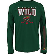 NHL Youth Minnesota Wild Tornado Green Performance Long Sleeve Shirt