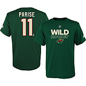 adidas Youth Minnesota Wild Zach Parise #11 Green T-Shirt