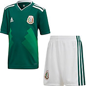 adidas Toddler Mexico Replica Home Green Stadium Jersey Set
