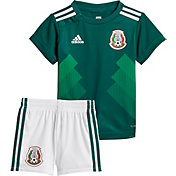 adidas Infant Mexico Replica Home Green Stadium Jersey Set