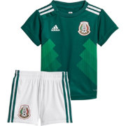 adidas Infant Mexico Replica Home Green Stadium Jersey Set