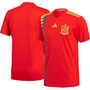 adidas Youth Spain Replica Home Red Stadium Jersey