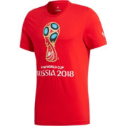 adidas Youth 2018 World Cup Russia Logo Red T-Shirt