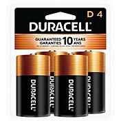 Duracell Coppertop D Alkaline Batteries – 4 Pack