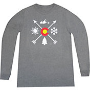 Aksels Men's Colorado Arrows Tri-Blend Long Sleeve Shirt