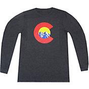 Aksels Men's Mountain C Tri-Blend Long Sleeve T-Shirt