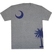 Aksels Men's South Carolina Flag Tri-Blend T-Shirt