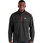 Antigua Men's Miami Marlins Prodigy Quarter-Zip Pullover