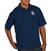 Antigua Men's San Diego Padres Navy Pique Performance Polo