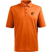 Antigua Men's Baltimore Orioles Orange Pique Xtra-Lite Polo