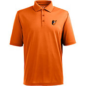 Antigua Men's Baltimore Orioles Orange Pique Xtra-Lite Polo