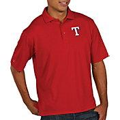 Antigua Men's Texas Rangers Red Pique Performance Polo