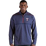 Antigua Men's Texas Rangers Prodigy Quarter-Zip Pullover