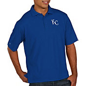Antigua Men's Kansas City Royals Royal Pique Performance Polo