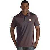 Antigua Men's Houston Astros Navy Quest Performance Polo