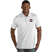 Antigua Men's Houston Astros White Quest Performance Polo