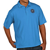 Antigua Men's New York City FC Xtra-Lite Pique Performance Blue Polo