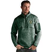 Antigua Men's Milwaukee Bucks Fortune Green Half-Zip Pullover