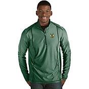 Antigua Men's Milwaukee Bucks Tempo Green Quarter-Zip Pullover