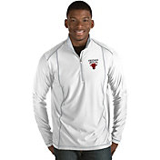Antigua Men's Chicago Bulls Tempo White Quarter-Zip Pullover