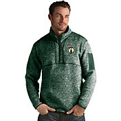 Antigua Men's Boston Celtics Fortune Kelly Green Half-Zip Pullover