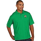 Antigua Men's Boston Celtics Xtra-Lite Kelly Green Pique Performance Polo