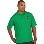Antigua Men's Boston Celtics Xtra-Lite Kelly Green Pique Performance Polo