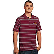 Antigua Men's Cleveland Cavaliers Deluxe Burgundy Striped Performance Polo