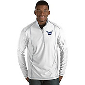 Antigua Men's Charlotte Hornets Tempo White Quarter-Zip Pullover