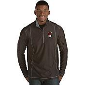 Antigua Men's Miami Heat Tempo Black Quarter-Zip Pullover