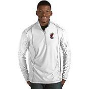 Antigua Men's Miami Heat Tempo White Quarter-Zip Pullover