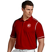Antigua Men's Atlanta Hawks Icon Red Performance Polo