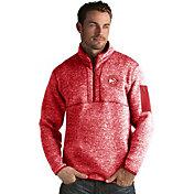 Antigua Men's Atlanta Hawks Fortune Red Half-Zip Pullover