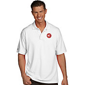 Antigua Men's Atlanta Hawks Xtra-Lite White Pique Performance Polo
