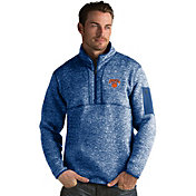 Antigua Men's New York Knicks Fortune Royal Half-Zip Pullover