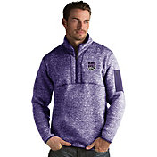 Antigua Men's Sacramento Kings Fortune Purple Half-Zip Pullover