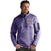 Antigua Men's Los Angeles Lakers Fortune Purple Half-Zip Pullover