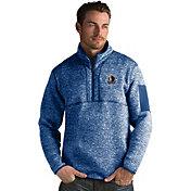 Antigua Men's Dallas Mavericks Fortune Royal Half-Zip Pullover