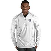Antigua Men's Dallas Mavericks Tempo White Quarter-Zip Pullover