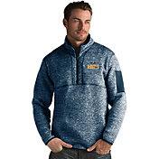 Antigua Men's Denver Nuggets Fortune Navy Half-Zip Pullover