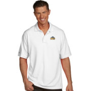 Antigua Men's Denver Nuggets Xtra-Lite White Pique Performance Polo