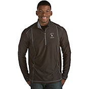 Antigua Men's Brooklyn Nets Tempo Black Quarter-Zip Pullover
