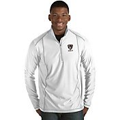 Antigua Men's Brooklyn Nets Tempo White Quarter-Zip Pullover