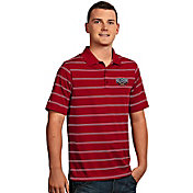Antigua Men's New Orleans Pelicans Deluxe Red Striped Performance Polo
