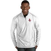 Antigua Men's Houston Rockets Tempo White Quarter-Zip Pullover